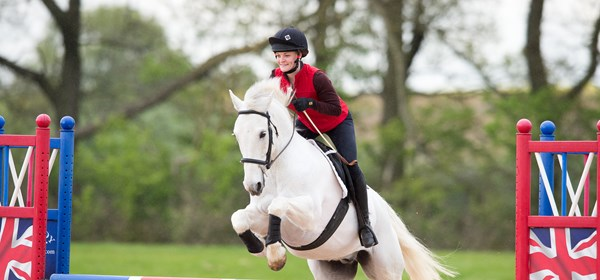 BHS Rider on horse jumping