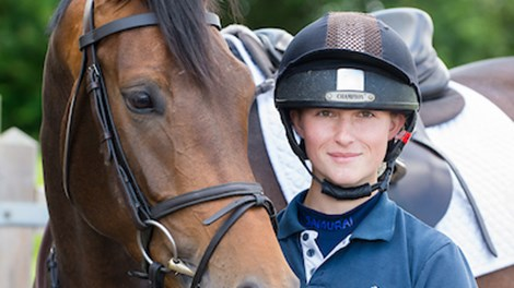 Complete Horsemanship Pathway student Ally Struthers with five-year-old horse Fizz